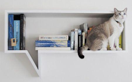 Speech Bubble Shelf... love it :): Bookshelves, Comic Bookshelf, Cat, Thoughts Bubbles, Bubbles Shelf, Bookshelf Inspiration, Speech Bubbles, Bubbles Bookshelf, Comic Shelf