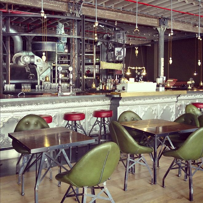 stuff lately industrial an entrepreneur and industrial coffee shop. Black Bedroom Furniture Sets. Home Design Ideas