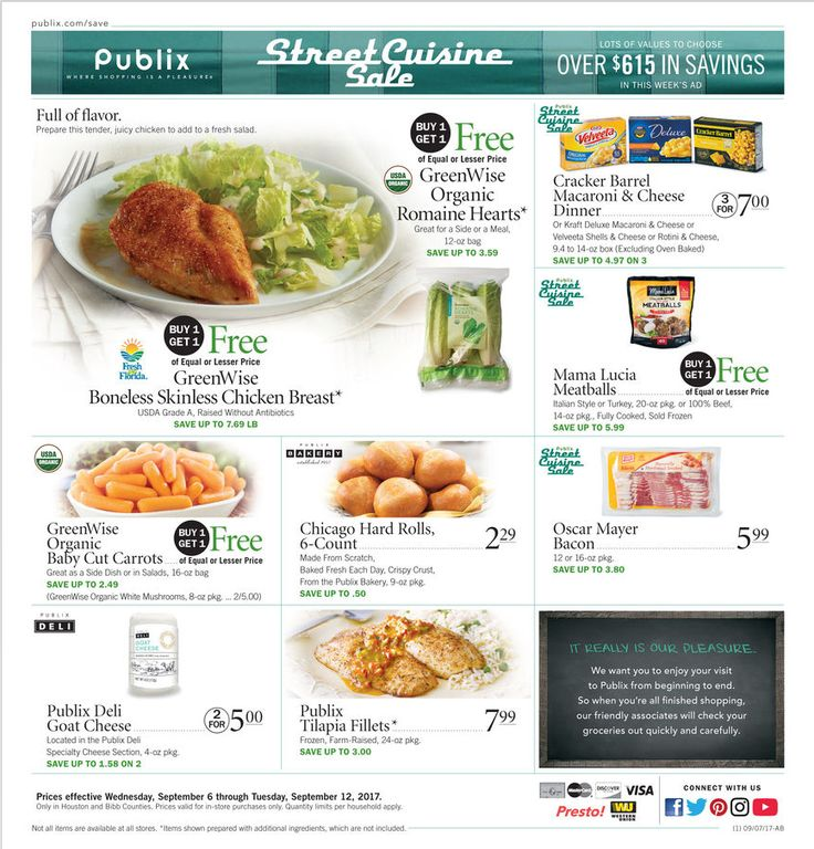 Publix Weekly Ad September 6 - 12, 2017 - http://www.olcatalog.com/grocery/publix-weekly-ad.html
