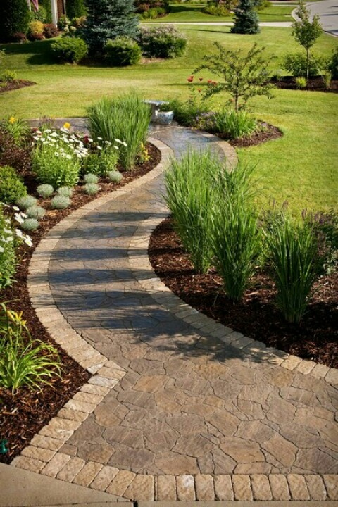 Walkway To Backyard Paths And Walkways Garden