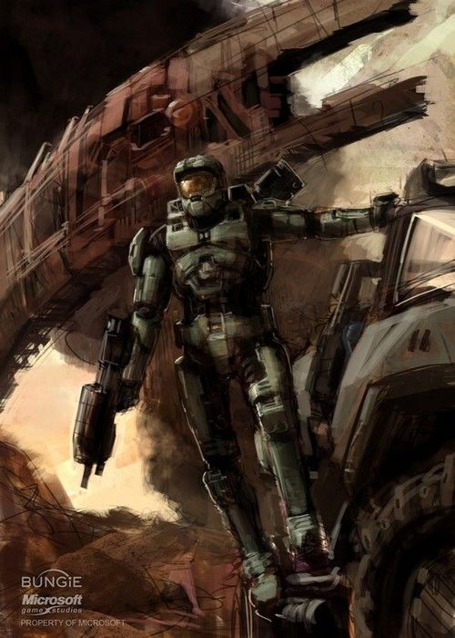 312 best amazing halo art images on pinterest video - Master chief in halo reach ...
