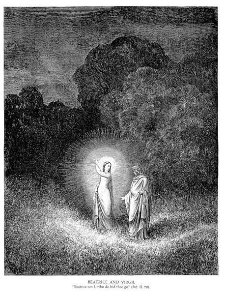 Beatrice & Virgil by Gustave Dore. Romanticism. illustration