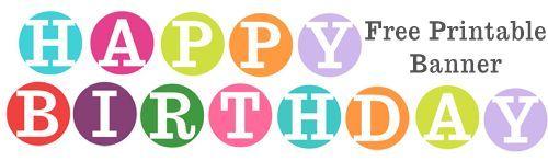 Happy birthday circle letter banner