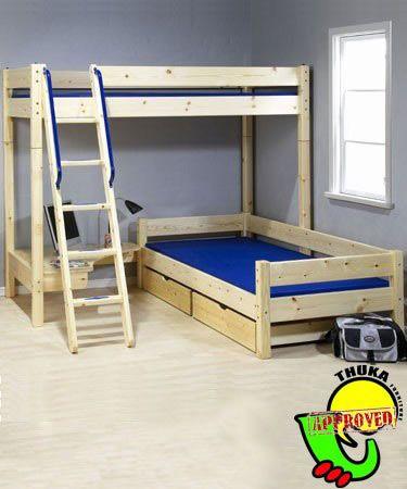 25 best ideas about bunk bed plans on pinterest loft bed for boys room custom bunk beds and. Black Bedroom Furniture Sets. Home Design Ideas