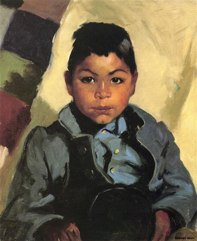 μικρός ινδιάνος μαθητής Robert Henri - 1917