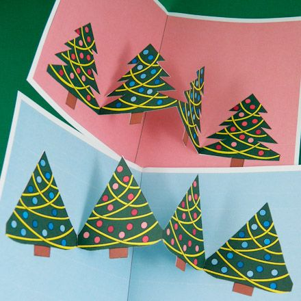 Two Christmas tree pop-ups