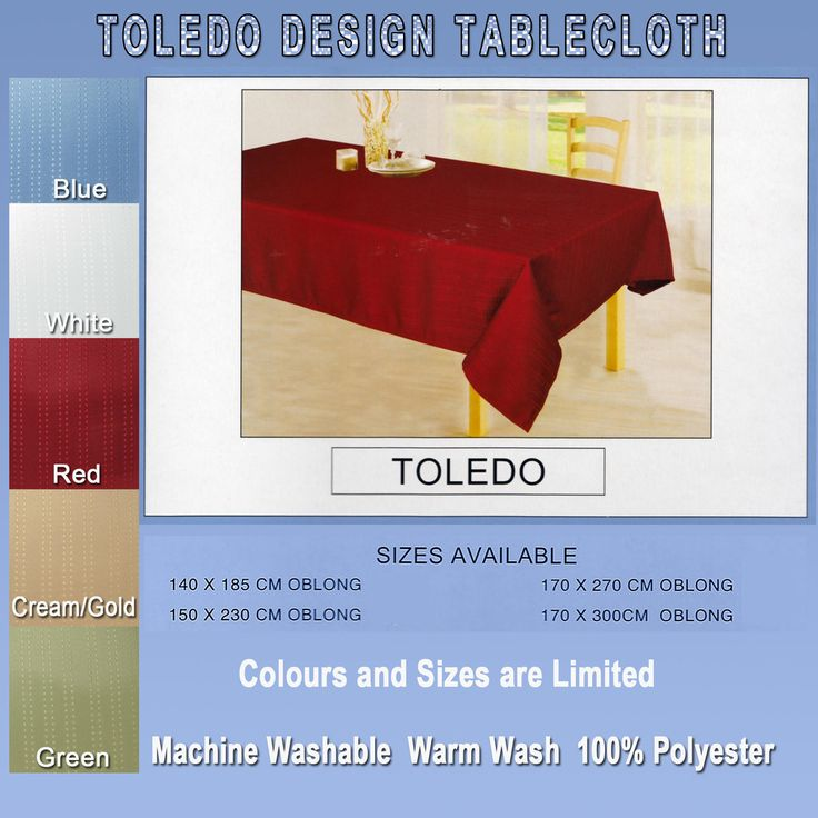 """The """"Toledo"""" tablecloth starting from just $29"""