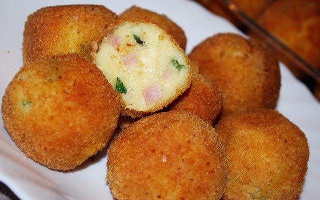 Zemiakové domáce krokety so syrom a šunkou
