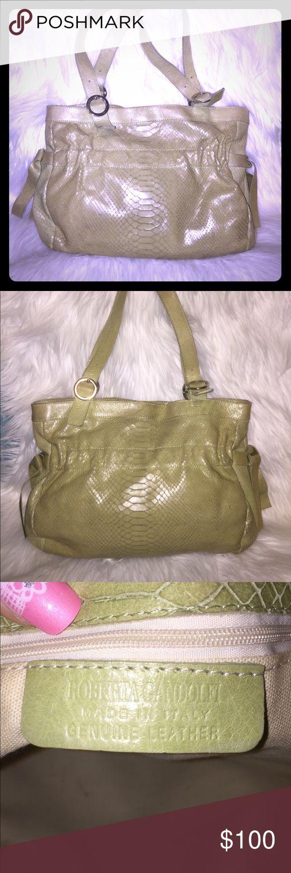 Spotted while shopping on Poshmark: Roberta Gandolfi Snakeskin Green purse vintage! #poshmark #fashion #shopping #style #roberta gandolfi #Handbags