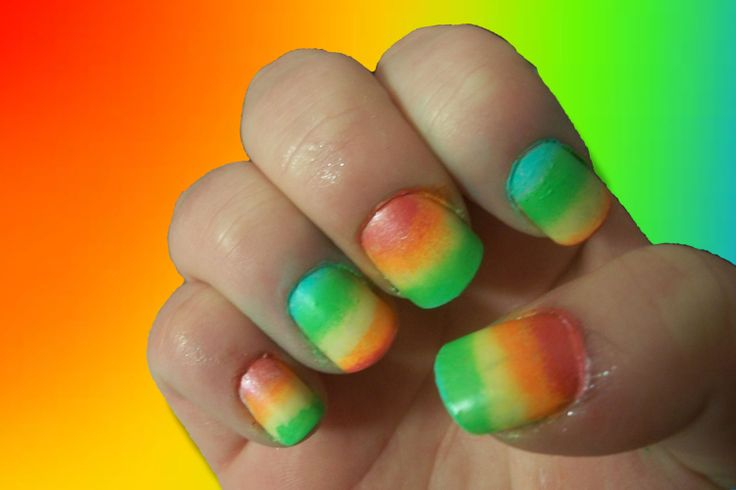 Nail Art Challenge, Day 19: Rainbow Nails