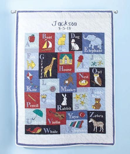 16 best Alphabet baby quilt images on Pinterest | Alphabet quilt ... : alphabet baby quilt pattern - Adamdwight.com
