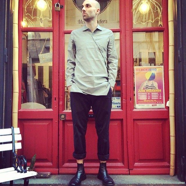 #shirt#21grammi, #trousers#dondup, #shoes#jilsander