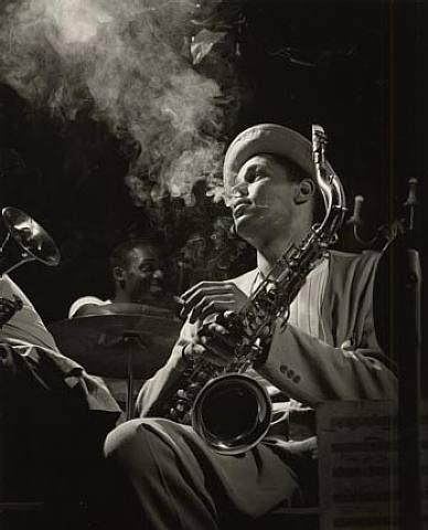 Dexter Gordon, Circa late 1940s.  A legendary photograph by Herman Leonard.