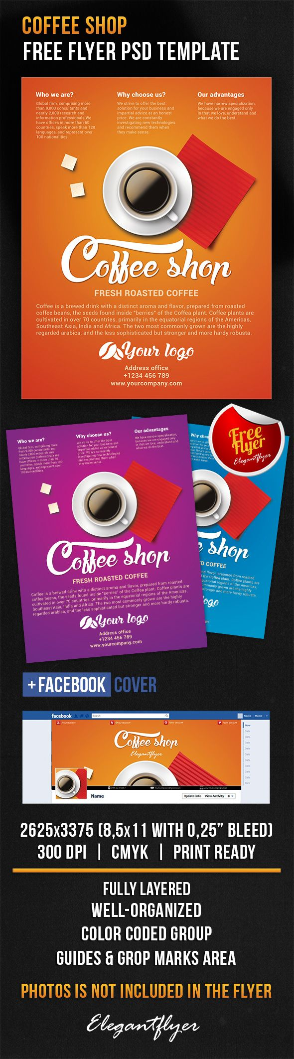 17 best ideas about flyer design flyer coffee shop flyer psd template facebook cover