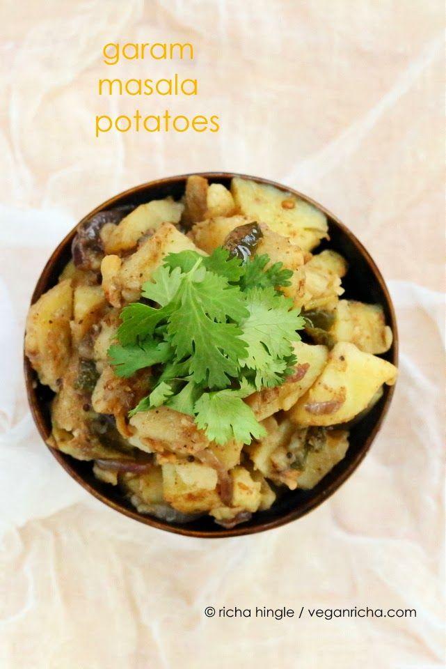 Garam Masala Potatoes and Onions. Masaledar Aloo Pyaaz. Vegan Glutenfree Recipe - Vegan Richa