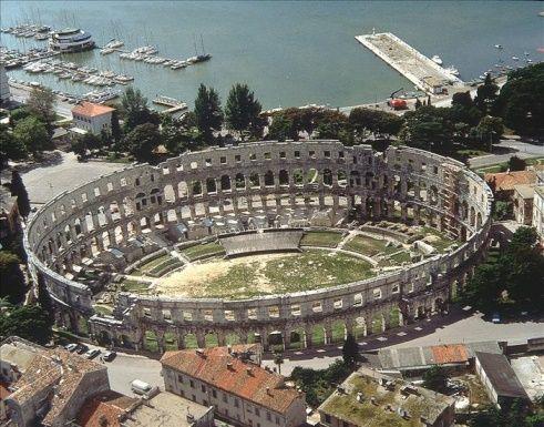 Roman Amphitheatre in Pula, Croatia