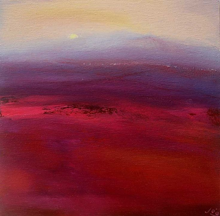 ARTFINDER: Dawn Mist by John O'Grady - Dawn across the land Everything is still sleepy, quiet. Light is diffused and the mist-covered heather in the landscape has no defined shape yet, as the d...