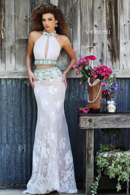 Sherri Hill Two Piece Lace Dress 32233