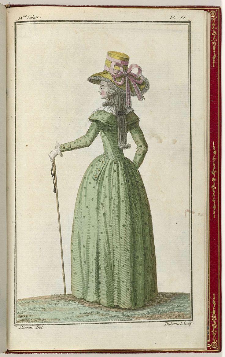Cabinet des Modes ou les Modes Nouvelles, 1 Novembre 1786, pl. II, A.B. Duhamel, Buisson, 1786