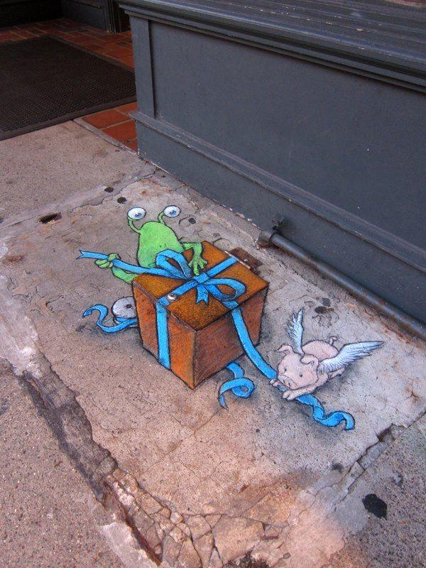 Best David Zinns Chalk Art Images On Pinterest David Zinn - David zinns 3d chalk art adorably creative