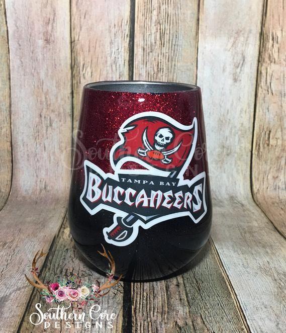 Tampa Bay Buccaneers Tumbler Tampa Bay Football Tumbler Ombre Tumbler Ozark Tumbler Ombre Yeti Yeti Glitter Tumbler Custom Tumblers Glitter Tumbler