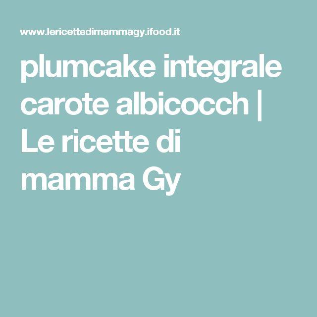 plumcake integrale carote albicocch | Le ricette di mamma Gy
