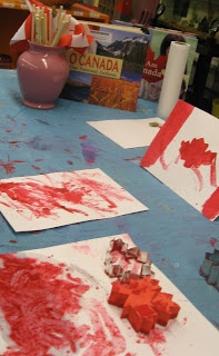 Art Project: Canadian flag with cherry jello!