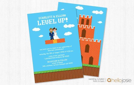 Gamer Level Up Retro Printable DIY Wedding by HelloJosie on Etsy