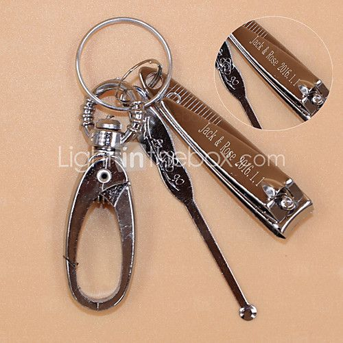 Stainless Steel Keychain Favors-1 Piece/Set Keychains Classic Theme Personalized Silver / Nail scissors - USD $1.89 ! HOT Product! A hot product at an incredible low price is now on sale! Come check it out along with other items like this. Get great discounts, earn Rewards and much more each time you shop with us!