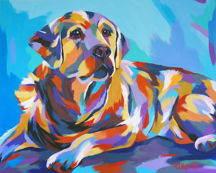 Golden retriever painting