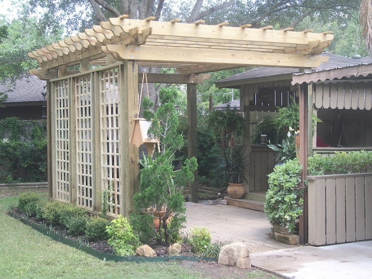 254 best sheds and garage images on pinterest carriage for Carport landscaping ideas