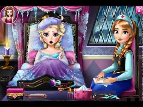 Juegos Friv   Elsa Frozen Flu Doctor   Juegos de Frozen Friv - YouTube