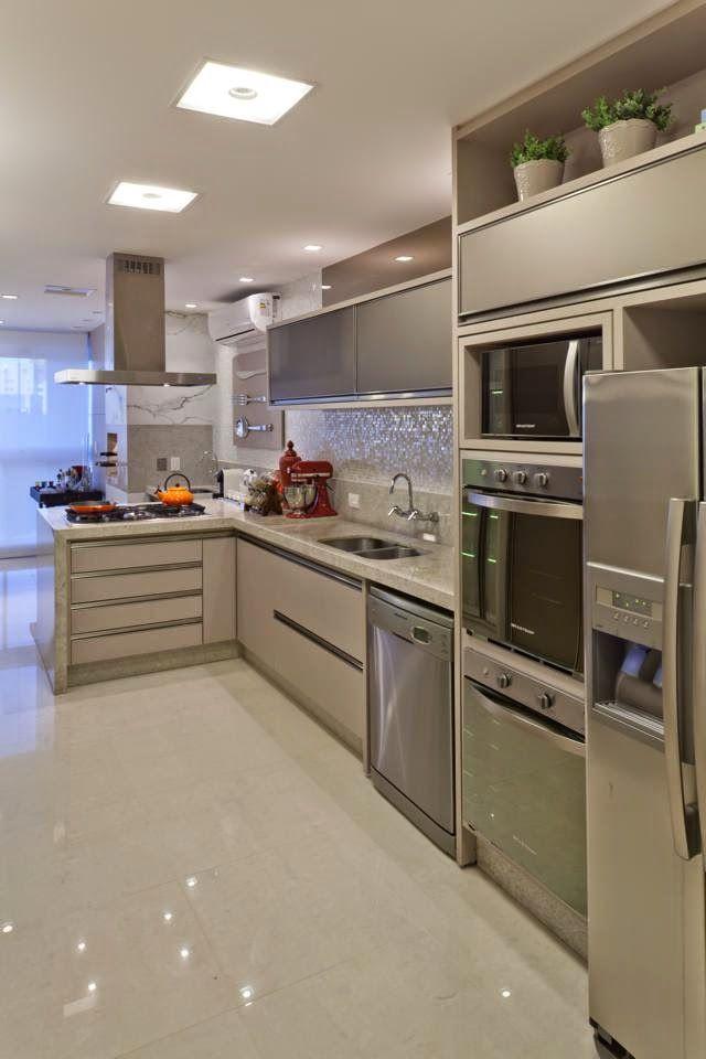 Cozinha com pastilhas #decoração #kitchen #homedecor #cozinhaintegrada