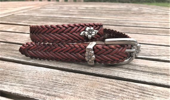 Never Worn Brighton Brown Braided Leather Belt  with a Silver/Pewter Belt Buckle