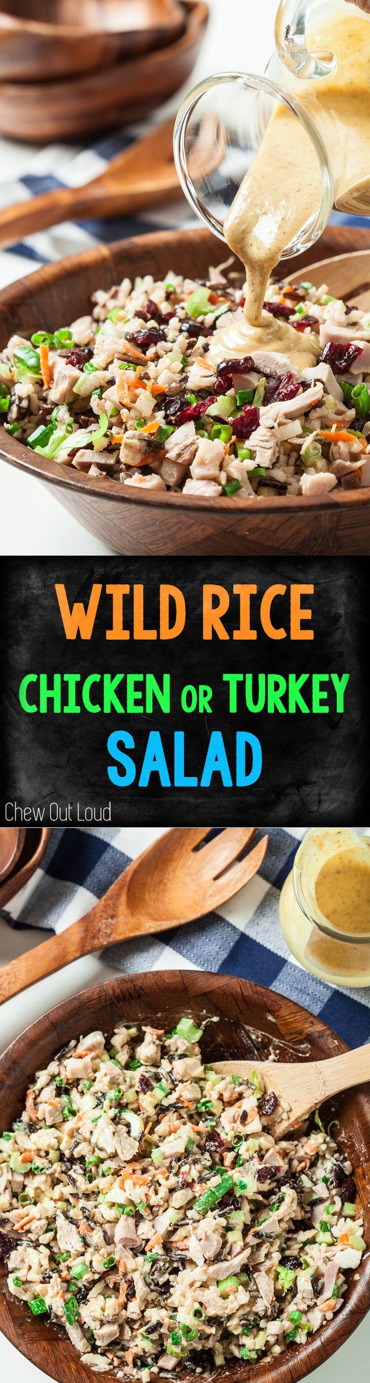 Skyroom's Wild Rice Chicken/Turkey Salad. Healthy, hearty, delish! #glutenfree #chicken #turkey #salad