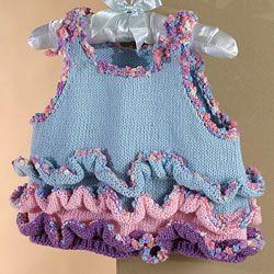 mavi pembe fırfırlı şirin bebek elbisesi modeli