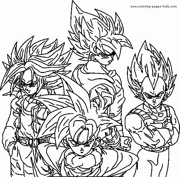 Dragon Ball Z Coloring Pages Printable Beautiful Dragon Ball Z Color Page Coloring Pages For Kids Monster Coloring Pages Coloring Pages Dragon Ball Image
