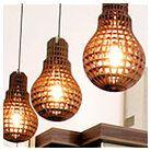 Design Lampe Holz-Glühbirne - edelight