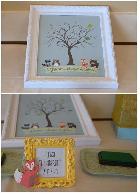 Baby Shower Guest Book Alternative - Thumbprints! | New version now available as an instant download on Etsy