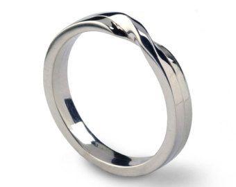 NODO d'amore anello fede nuziale in oro banda di di AroshaMode