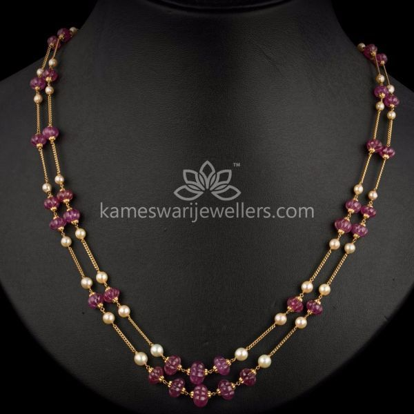 Ruby Flower Beads Chain