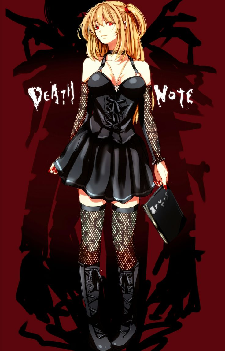 Misa Amane. Not my favourite character, but the art of this pic is great. Far more atractive than canon Misa.