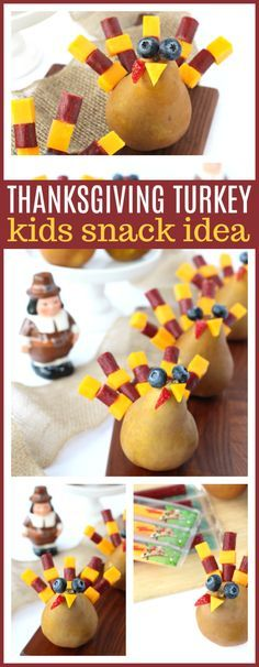 Festive Thanksgiving Snack Idea That Kids Will Gobble Up! | Raising Whasians via @raisingwhasians (AD)