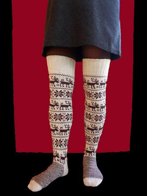 brune_hvide above-the-knee2  by danishknitdesign, via Flickr