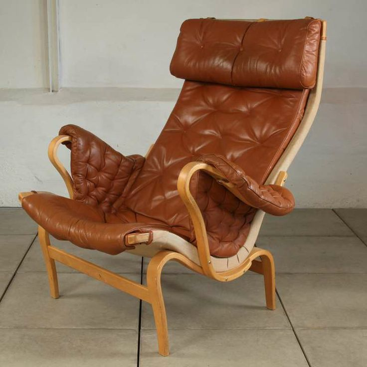 Mid Century Bruno Mathsson Pernilla Lounge Chair By Dux