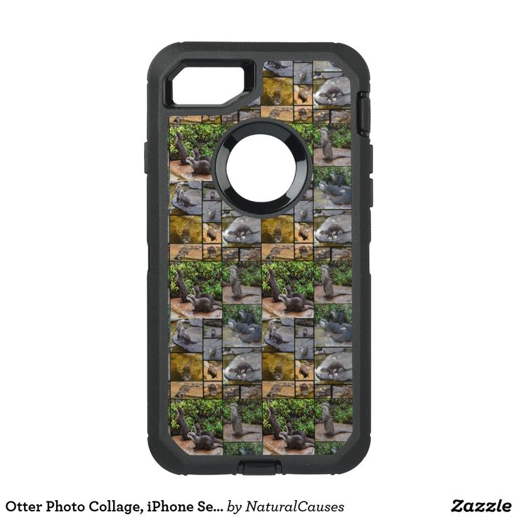 Otter Photo Collage, iPhone Seven Defender Case. OtterBox Defender iPhone 7 Case
