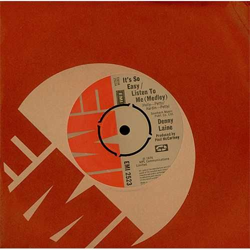 "For Sale - Denny Laine It's So Easy / Listen To Me (Medley) UK  7"" vinyl single (7 inch record) - See this and 250,000 other rare & vintage vinyl records, singles, LPs & CDs at http://eil.com"