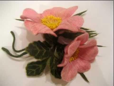 валяние из шерсти цветы http://www.livemaster.ru/julka79?view=profile