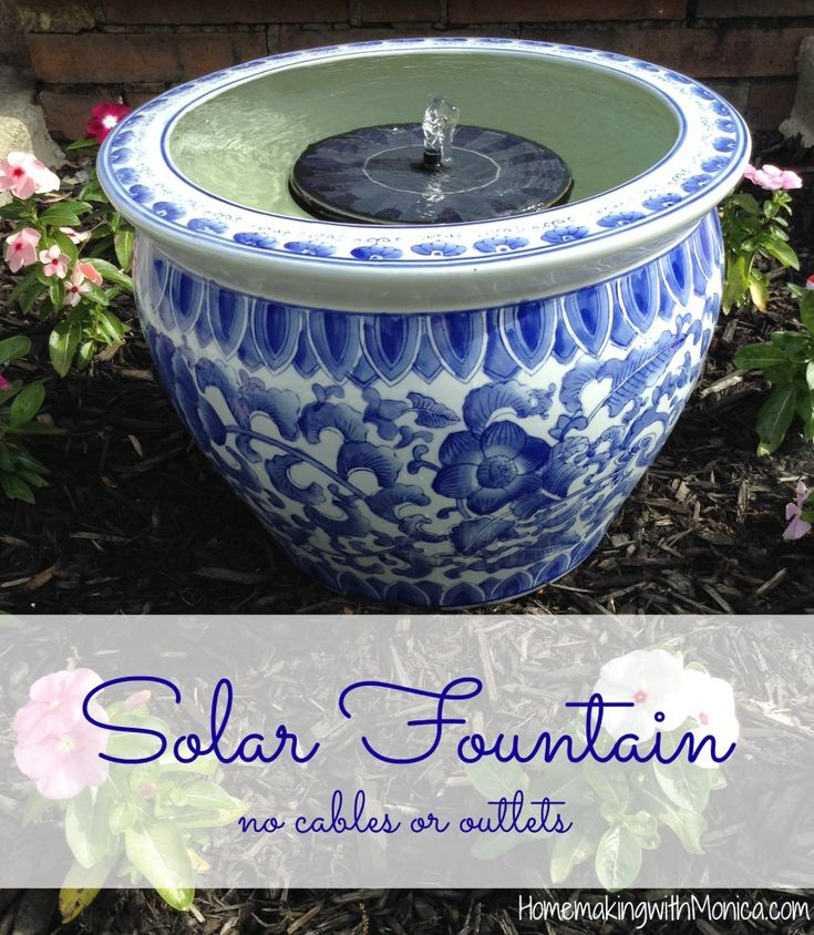 Check out this #1 best selling solar floating water fountain. No cables or outlets necessary!