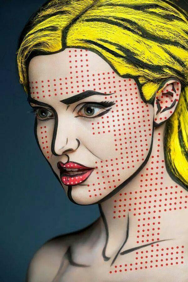Comic strip makeup